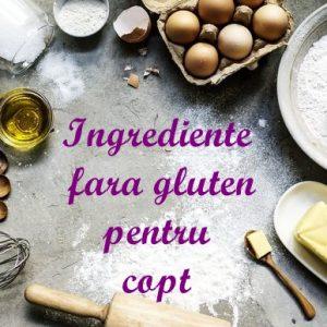 Ingrediente fara gluten pentru copt